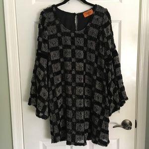 Voom by Joy Han Bell Sleeve Chenille Dress